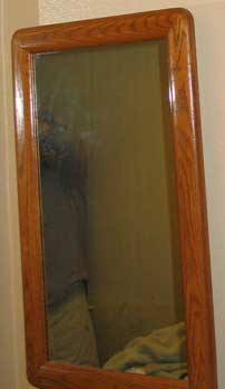Original Cabinet On the Bathroom Wall