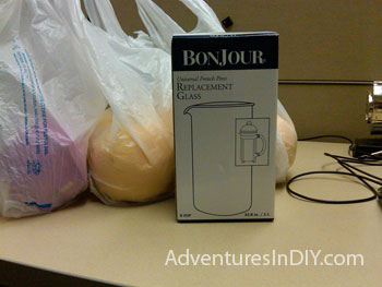 Boxed Bonjour Replacement Glass Carafe