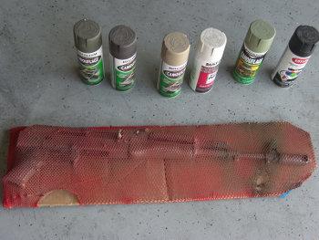 Romanian AK Under Fishnet Ready To Paint