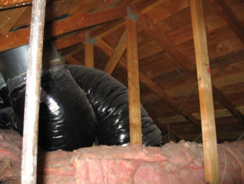Attic Area With A/C Ducts
