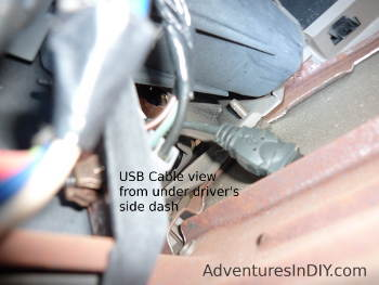 Running USB Extension Under Driver's Side Dash