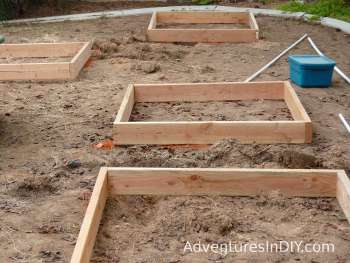 Marking Raised Bed Positions