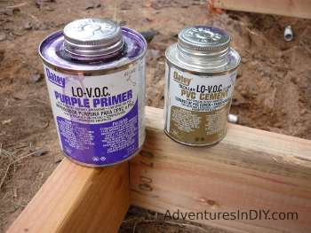 Purple  Primer and PVC Cement