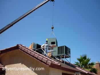Preparing Second New HVAC Unit Install