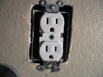 Gaps Around An Electrical Outlet Box