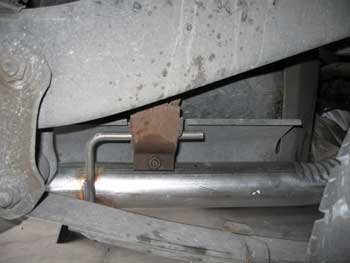 Attached New Tailpipe To Rear Support