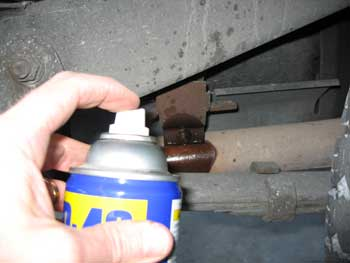 WD40 Rusted Bolts and Nuts