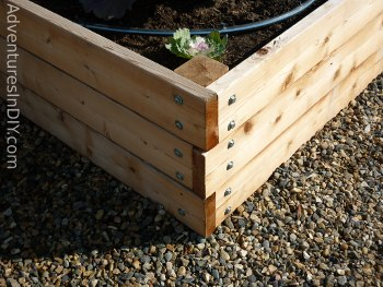 Raised Bed Garden Construction Detail