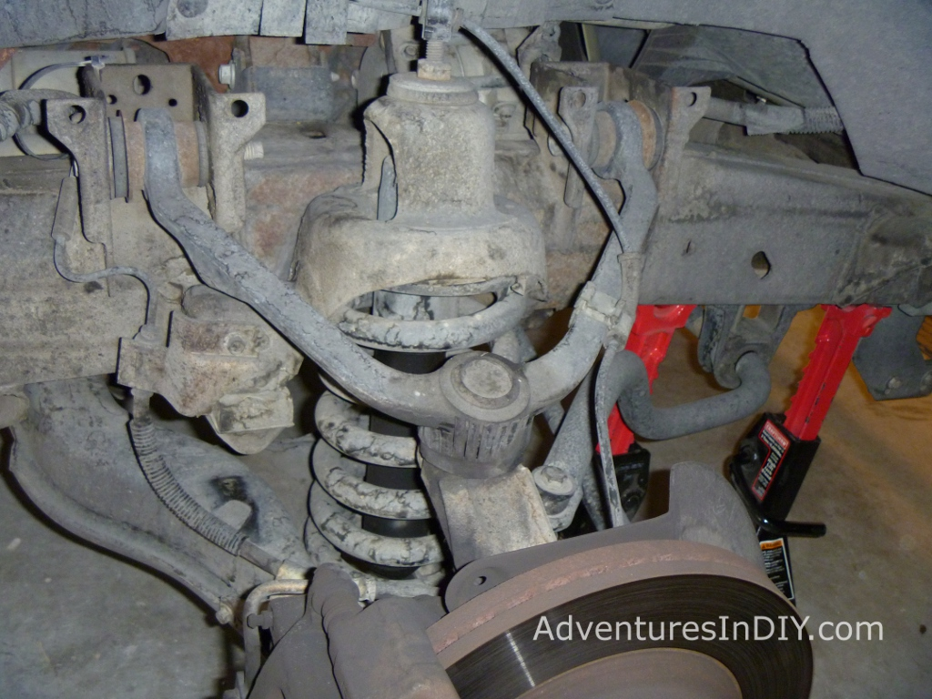 Front Suspension Old Shock Exposed