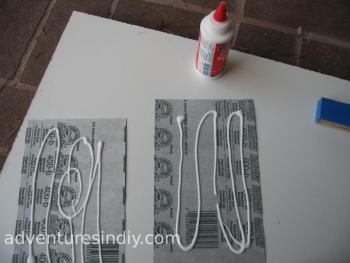 Spreading Glue On Sandpaper
