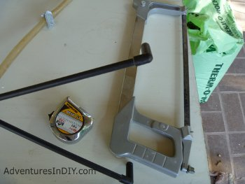 Hacksaw and Measuring Tape