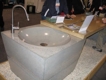 Concrete Sink Closeup