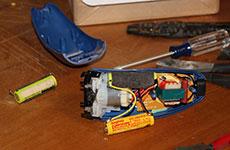 Replacing rechargeable razor batteries