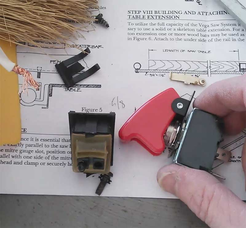 How to replace a table saw power box and switch rocket launching replacement table saw switch greentooth Choice Image