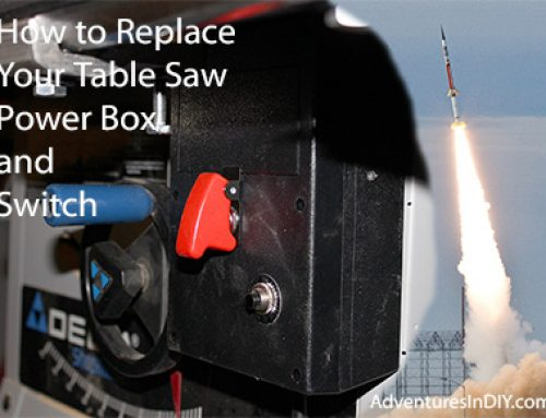 How to Replace a Table Saw Power Box and Switch. Rocket Launching With Every Cut.