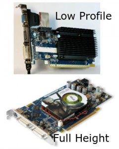 Low Profile and Full Height Graphics Card Comparison