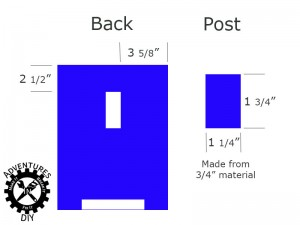 Bookend Post Dimensions and Placement