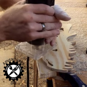 Trimming Excess Off T-Rex Skull