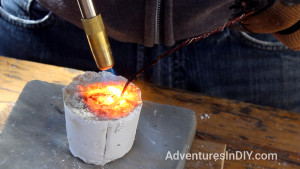 Melting Copper Wire Into Ring Mould