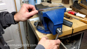 Putting Copper Wire In The Vice To Twist It