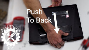Push To Back To Remove The Case Bottom