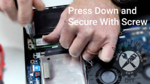 Securing M.2 Drive Down With Screw