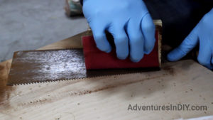 Make Sure Not To Sand The Hand Saw Teeth