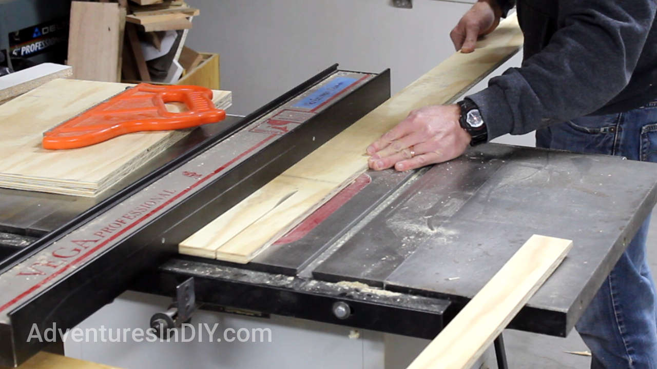 Cutting Rolling Base Trim Pieces