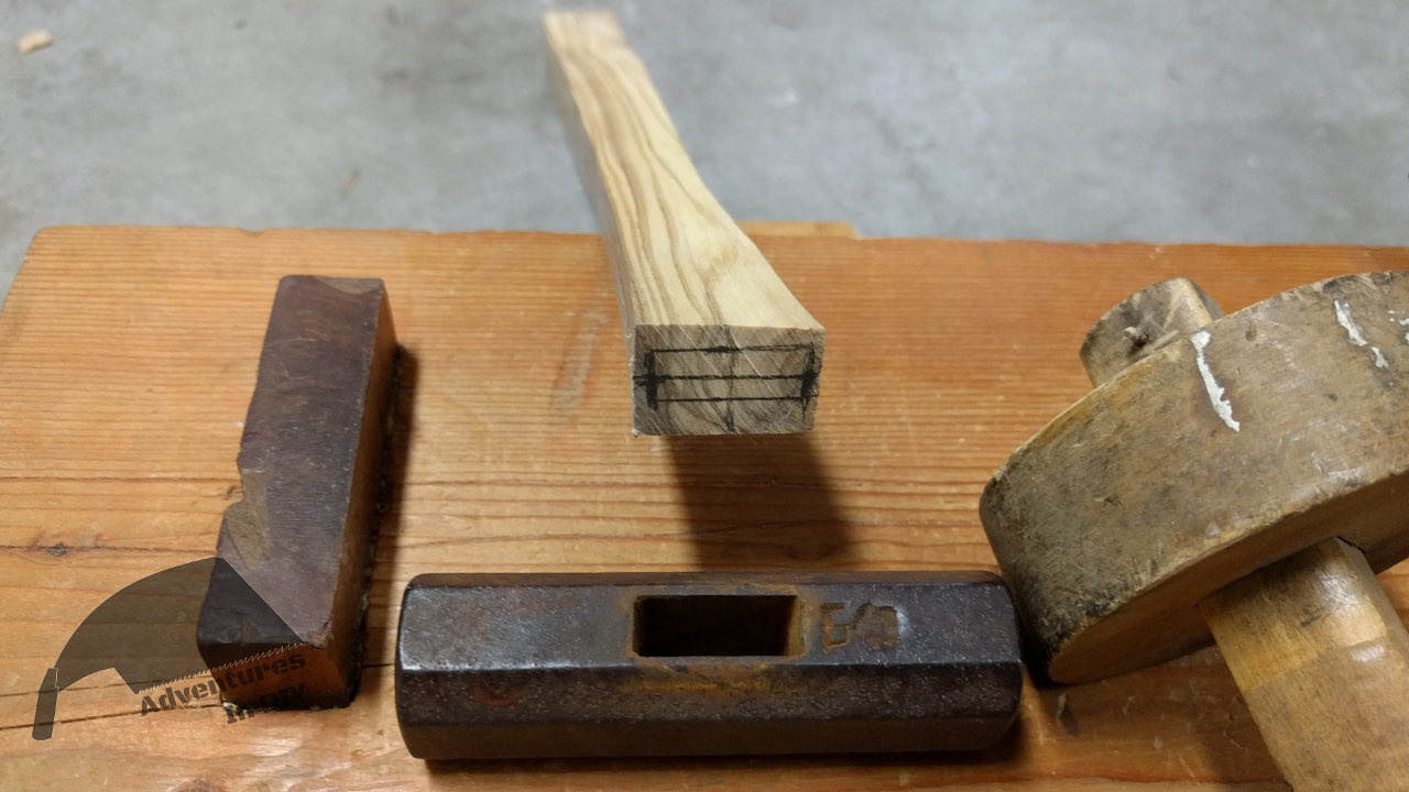 Marking Lines For Japanese Hammer Head On Handle Blank