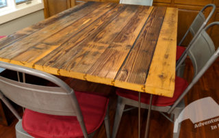 Dining Table With Metal Chairs
