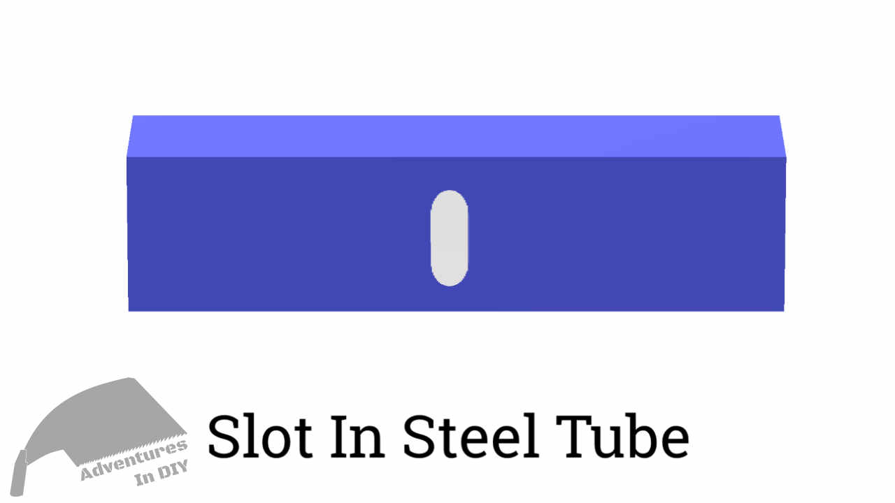 Slot In Tube Steel To Allow Wood Movement