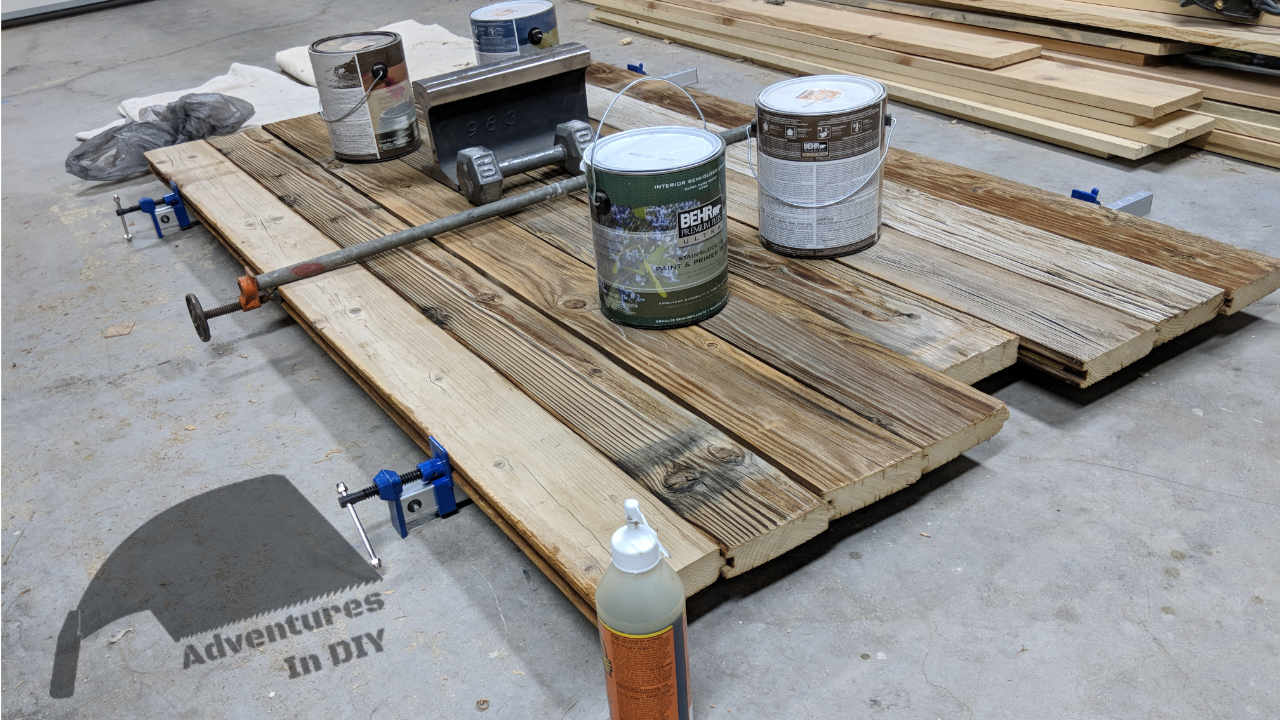 Gluing Kitchen Table Top Up