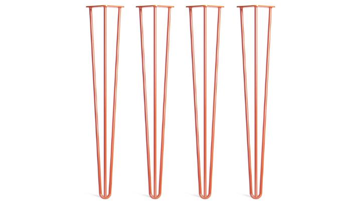 Orange Hairpin Metal Legs