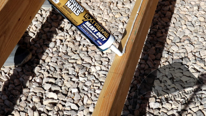 Applying Adhesive To Floor Joists
