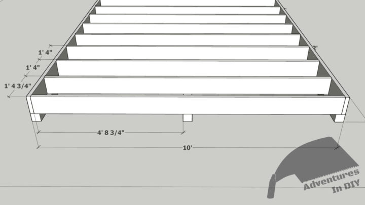 Mark The Outside Floor Joists For Center Skid Positioning