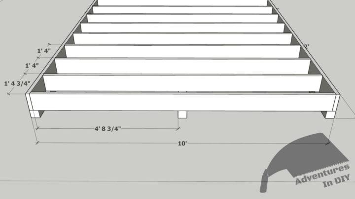 Mark The Outside Floor Joists For Center Skid Positioning
