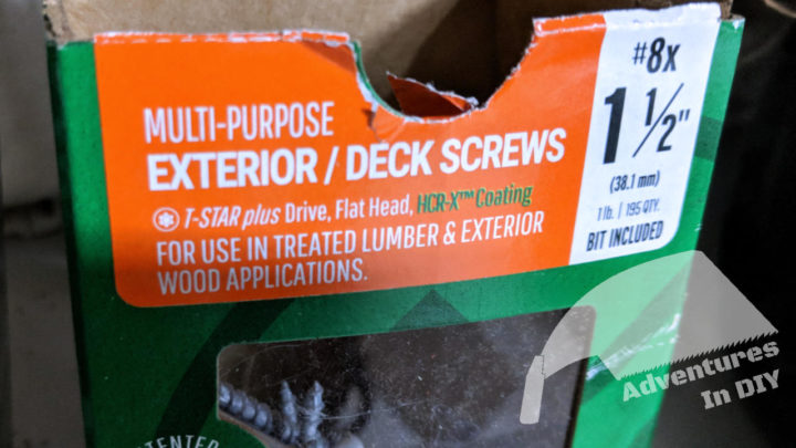 Screws Designed To Use With Pressure Treated Lumber