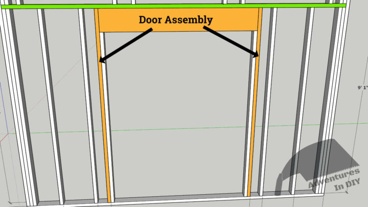 Front Wall Door Assembly Area