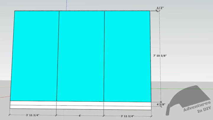 Back Wall Sheathing Dimensions