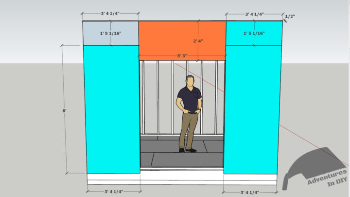 Front Shed Wall Sheathing Dimensions
