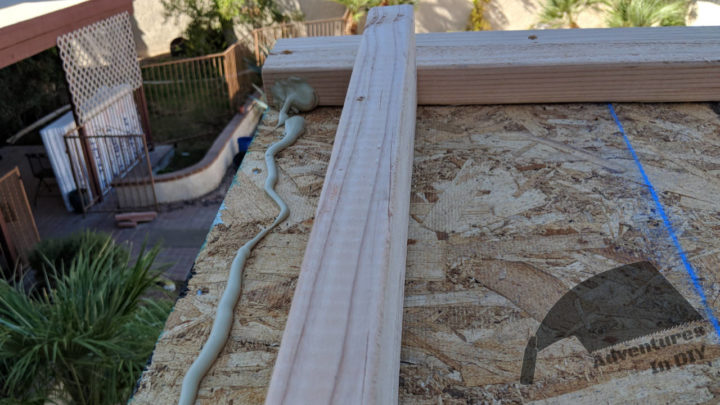 Gluing 2x4 Border Before Screwing It In Place