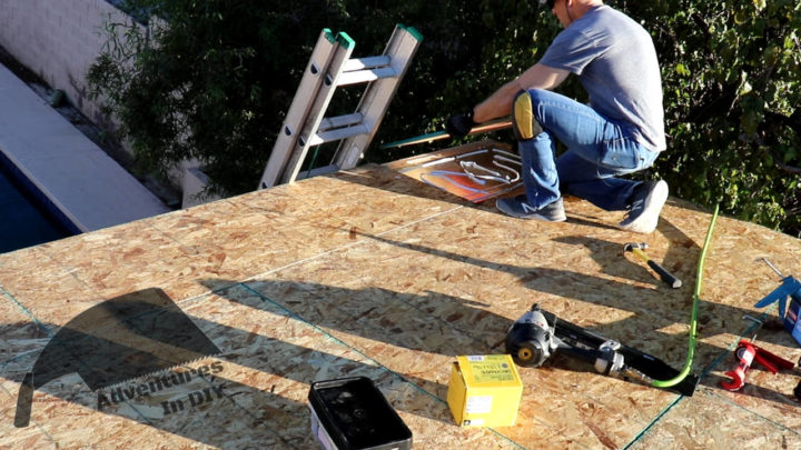 Installing Last Panel on Roof