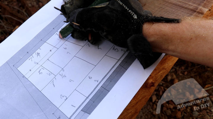 Marking the Layout Diagram for Installation of Top Layer