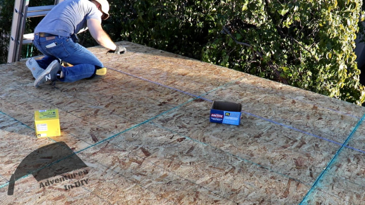Snapping a Chalk Line to Install Screws in the Center of Sheets