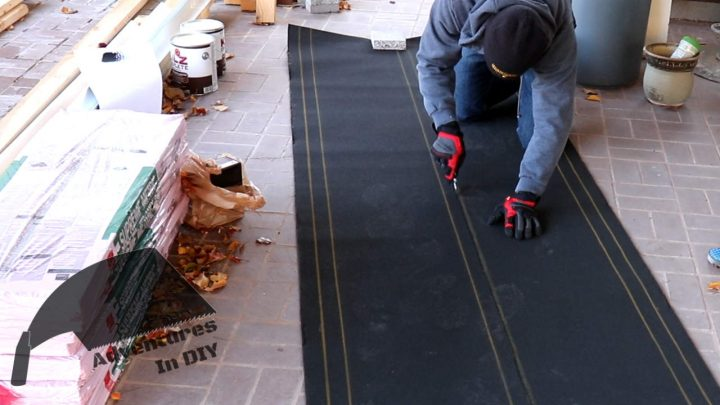 Cutting First Sheet of Underlayment to 19 inches