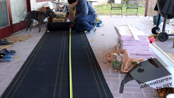 Cutting Underlayment on the Ground Before Taking it up on the Roof