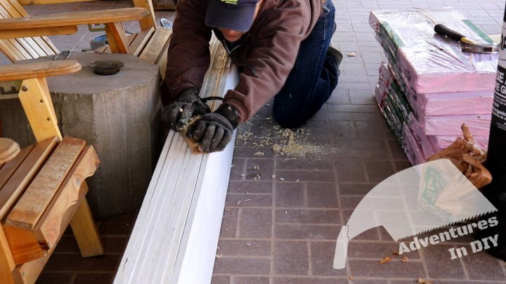 Hand Planing Uneven Areas of Fascia Board Widths