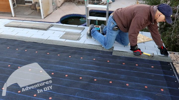 Installing Shingles Using the Chalk Lines