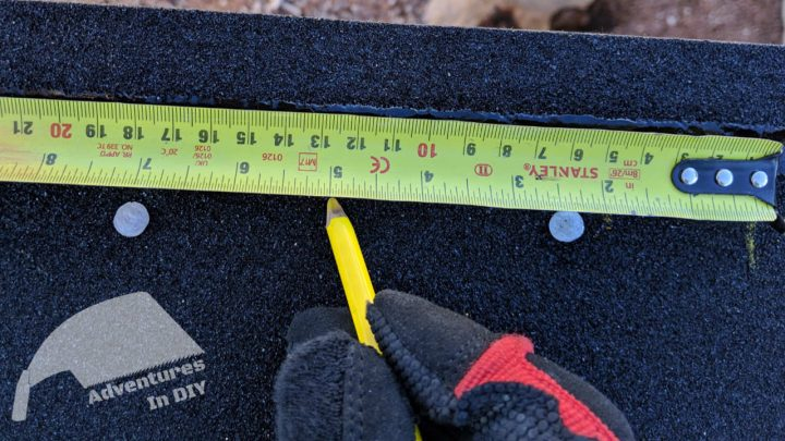 Measuring Every 5 Inches for Shingle Layout