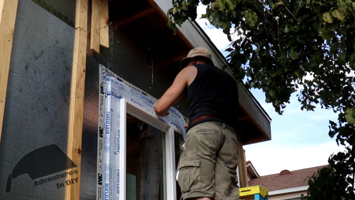 Applying Flashing to the Top of the Window Fin